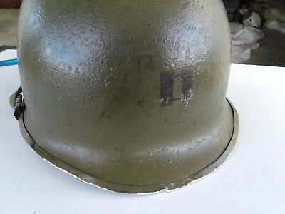 WW2 U S Army helmet, front seam, very good condition, item #3