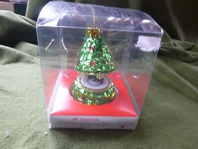Mr. Christmas Porcelain Animated Music Box Tree Ornament 2012 Train Oh Xmas Tree