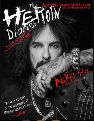 NIKKI SIXX Signed Autographed The HEROIN DIARIES 10 YEAR ANNIVERSARY BOOK photo