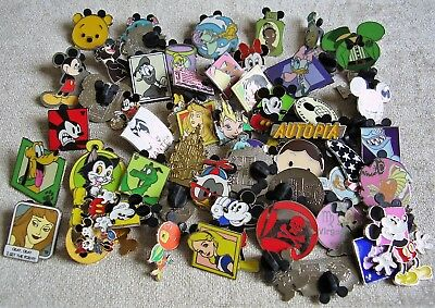 Disney pin badges trading and Hidden Mickey Mouse collection