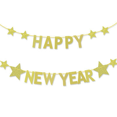 happy new year letter banner garland new year party decoration bunting