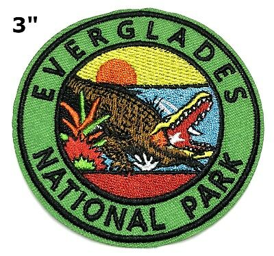Everglades National Park Embroidered Patch Iron / Sew-on Travel Souvenir Series