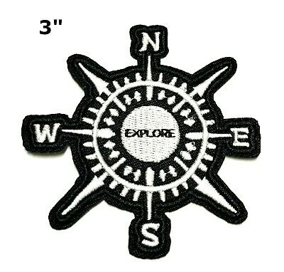 Compass Explore Embroidered Patch Iron/Sew-on Travel Souvenir Adventure Series