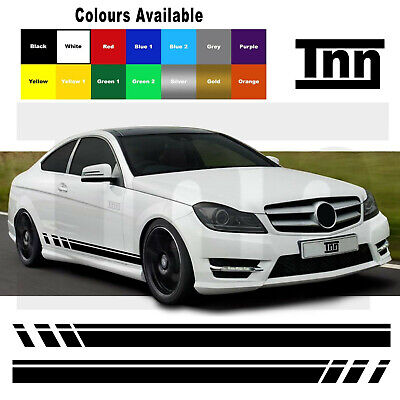 AMG Edition C63 507 Side Stripe Decals Stickers Mercedes Benz C Class W204