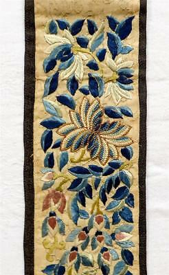 Finely Embroidered Antique 19Th Century Chinese Silk Sleeve