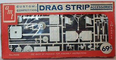 1960's AMT Custom Competition Drag Strip Accessories kit #3008 1/25 Scale