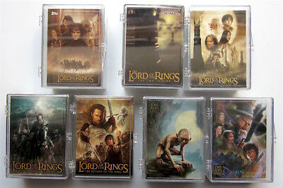 Lord of the Rings - 7 x Trading Cards Basis Sets - Topps 2001 - 2006