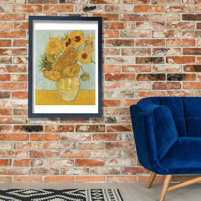 Vincent Van Gogh - Vase with 12 Sunflowers Wall Art Poster Print