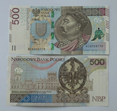 Poland 500 Zlotych (2017 Series) incl. folder. P-New. UNC GEM directly from NBP