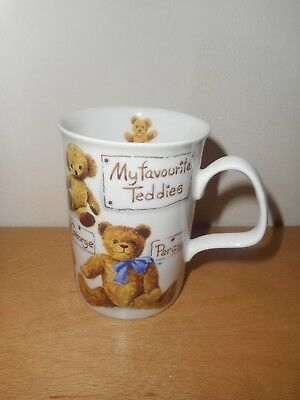 Roy Kirkham My Favourite Teddies Fine Bone China Mug George, Percy Etc. New.