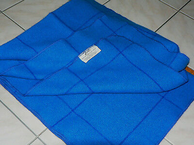 """Vintage United Airlines Faribo Blue Pinstripe Blanket 37"""" x 57"""" Excellent"""