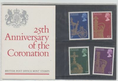 GB 1978 25th Anniversary of the Coronation Presentation Pack No 101 Mint Stamps