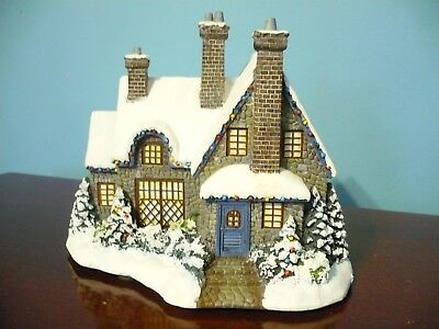 Thomas Kinkade Hawthorne Village Christmas at Swanbrook Excellent
