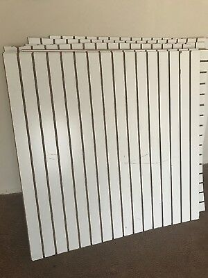 4' X 8' White Color Slatwall Panels