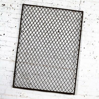 Antique Primitive Industrial Woven Wire Window Security Guard