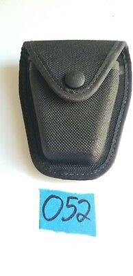Safariland Black Nylon Handcuff Carrier Pouch Holster Holder Case Button Snap