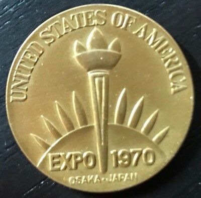Expo 1970 Osaka Japan Medal US Pavilion