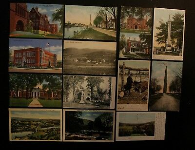 Vintage Postcard Lot of 13 Vermont Postcards: Burlington, Swanton, Middlebury