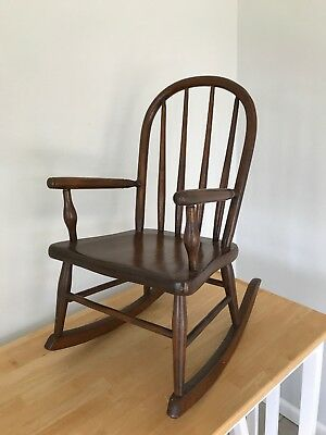 Bentwood Antique Child's Rocking Chair