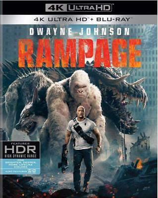 Rampage (4K Ultra HD+Blu-Ray+Digital HD) NEW w/SLIP, FREE shipping
