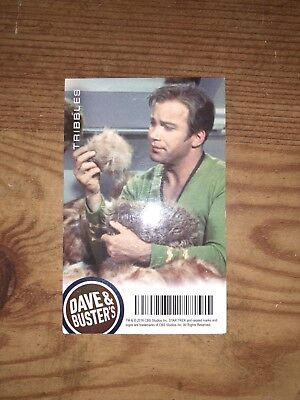 Dave and Busters Star Trek Rare Tribbles card Plus Bonussssss!!!