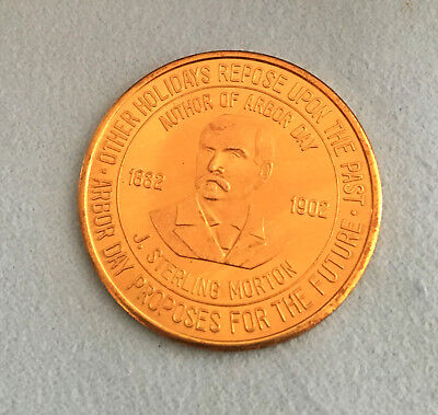 J. Sterling Morton 1832-1902 Token.  Author Of Arbor Day.