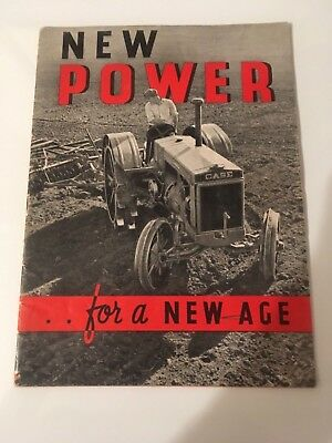 """Case L, C & CC  Tractor Catalog/Brochure """"New Power for a New Age"""""""