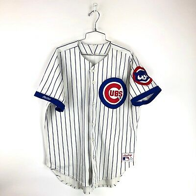afc10ac7b VINTAGE CHICAGO CUBS Rawlings Jersey Size XL Pinstripe USA Made MLB ...