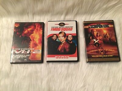 Lot of 3 DVD's The Mod Squad, The Scorpion King, Mission Impossible 2 M:i-2