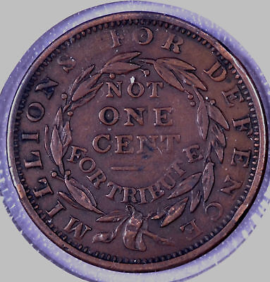 "1837 ""Not One Cent"" Hard Times Token HT-47"