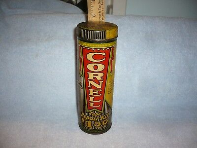 Vintage  Cornell Tire Tube Repair Kit  Advertising Tin  Can  nice graphics  free