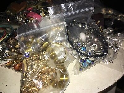 Mixed Bag LOT VINTAGE TO NOW JEWELRY  UNSEARCHED UNTESTED All wearable NICE