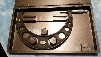 """Moore And Wright 7"""" -  8"""" Micrometer. Original Box. Serviced. Clean.  Smooth. A1"""