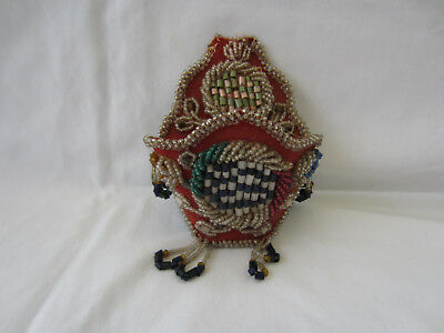 Antique Victorian Beaded Pocket, Container