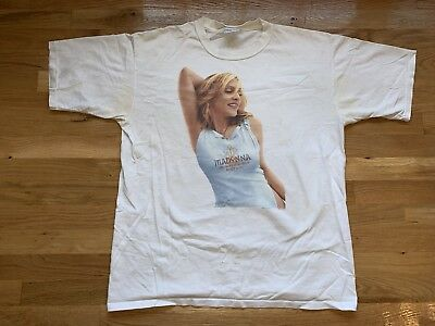 Vintage MADONNA 2001 Drowned World Tour Concert T Shirt Men's Size XL