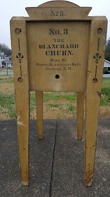 No 3 Blanchard Butter Churn by Porter Blanchard's Sons, Concord N.H.