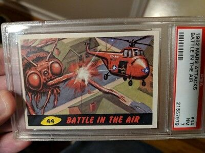 1962 Mars Attacks #44 Battle In The Air Psa 7