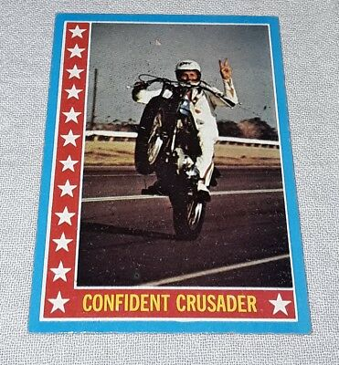 Vintage 1974 Topps Evel Knievel Card Number 24