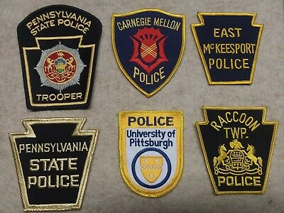 Pennsylvania Police Patches - State - Pittsburgh Area