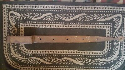 Antique Vintage Hand Forged Strap Hinge Barn Door Hinge 36 by 2 with Pintle