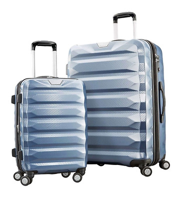"Samsonite Flylite DLX 2 Piece Spinner Set Luggage 28"" & 20"" Blue NEW NIOB* DEAL!"