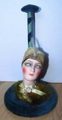 Boudoir Doll Hat Stand Flapper Cloche Doll Icon