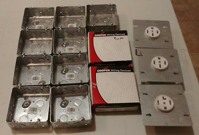 Lot of Hubbell Switch Boxes and Dryer Receptacles