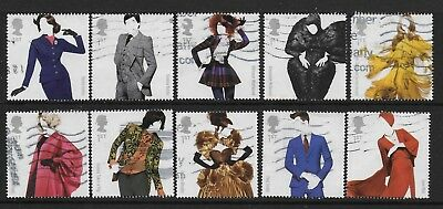 1) GB Stamps  2012 British Fashion Full Set Good Used.