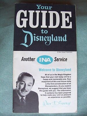 Disneyland Guide brochure, vintage, Your Guide to Disneyland, 33 pgs, good used