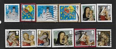 1) GB Stamps 2017  Christmas Full Set + Children's Christmas. Good used.