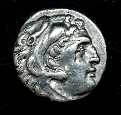 Alexander the Great. Stunning Drachm. Ivy Leaf Below Throne. Greek Silver Coin.