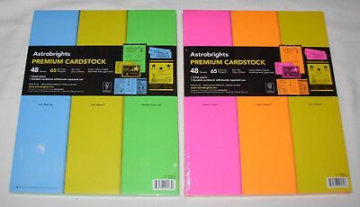 New 6 Colors Astrobrights 65 lb Premium Cardstock 96 Sheets Letter Size