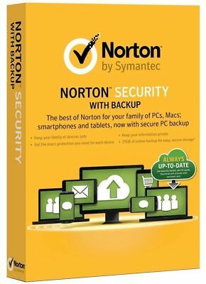 New Norton (Internet) Security Premium 2019 10 Devices W/Backup & Family Care