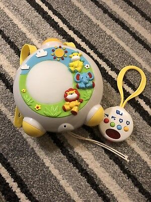 Mothercare Baby Safari Dream show. Lullaby Night Light. Baby Toy. Cot Mobile.